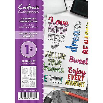 Crafter-apos;s Companion A6 Rubber Stamp - Profitez de chaque instant