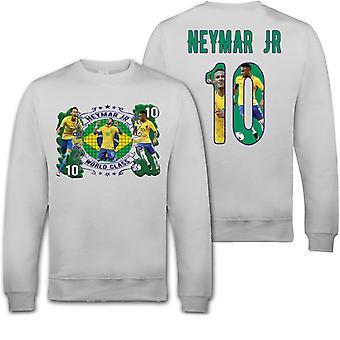 Neymar Jr Brasil sweatshirt med tryck fram & bak