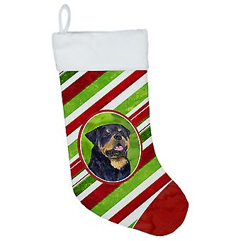 Carolines Treasures  SS4593-CS Rottweiler Winter Snowflakes Christmas Stocking S