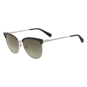 Longchamp LO107S 001 Black-Gold/Green Gradient Sunglasses