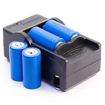 4 RCR123a Rechargeble Li-Ion batterijen & 1 AC oplader voor Arlo beveiligingscamera