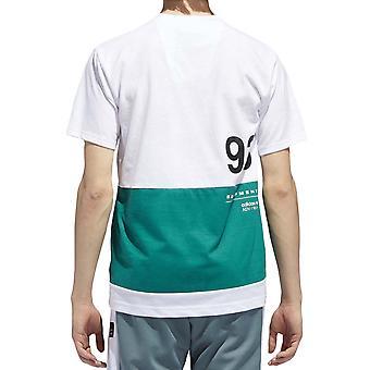 adidas Originals Mens EQT Crew Neck Kısa Kollu Pamuk T-Shirt Tee Top - Beyaz