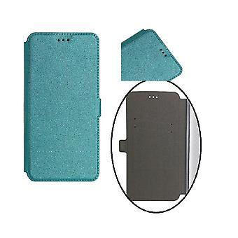 Samsung Galaxy J6 (2018) Smart Pocket Mobilplånbok - Turkos