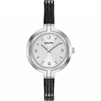 Bulova 96P211 المرأة & s رابسودي الماس ساعة اليد