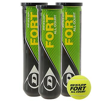 Dunlop Unisex Fort All Court Tennis Ball (4 Tube) Klasyczny