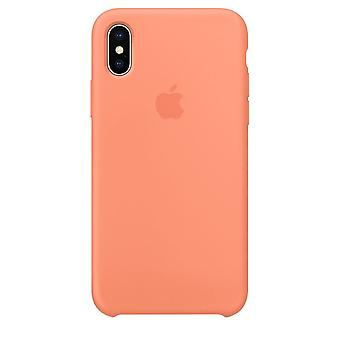 Original Packed MRRC2ZM/A Apple Silicone Microfiber Cover Case for iPhone X - Peach