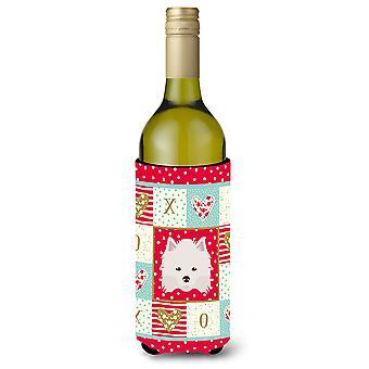 American Eskimo Wine Bottle Beverage Insulator Hugger