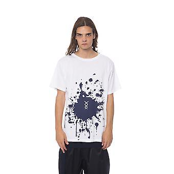 Short-sleeved white Nicolo Tonetto men's T-shirt