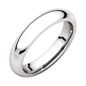 10k White Gold 4mm Polished Comfort Fit Band Ring Jewelry Gifts for Women - Ring Size: 6 to 11