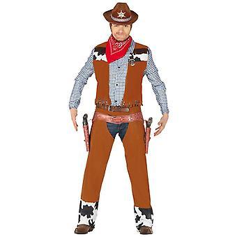 Mens Cowboy Fancy Kjole Kostyme Wild West