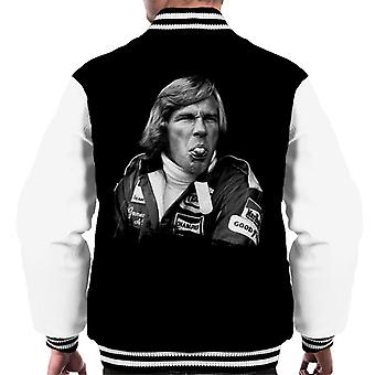 Motorsport Images James Hunt Pulling Funny Face Men's Varsity Jacket
