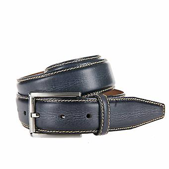 Stylish Blue Pantalon Belt With Contrasting Stitching