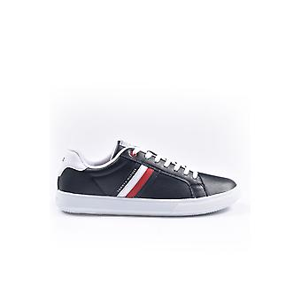 Tommy Hilfiger Esseential Leather Cupsole Trener Desert Sky