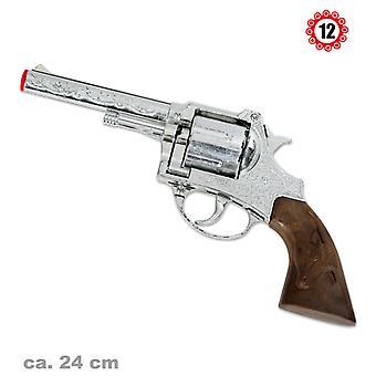 Peacemaker 12 schot Colt revolver zilveren ring munitie speelgoed pistool