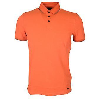 Hugo Boss Poltron Short Sleeve Cotton Orange Polo Shirt