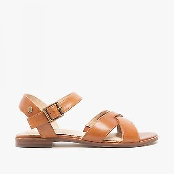 Hush Puppies Lila Ladies Leather Sandals Tan