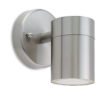 Firstlight Fundament Modern Stainless Steel Outdoor Wall Sconce Downlight