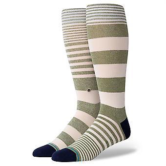 Stance Staples Men's Socks ~ Power Flower army green