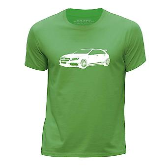 STUFF4 Guttens rund hals T-skjorte/sjablong bil kunst / A45 AMG/grønn
