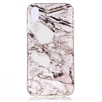 Vit/Brun Marmor skal  till iPhone Xs Max