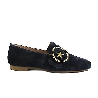 Paul Green 2570-02 Navy Suede Leather Womens Slip On Shoes