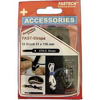 FASTECH® 800-330C Krok-og-sløyfe kabelbånd for bunting Krok og sløyfe pute (L x B) 110 mm x 11 mm Svart 10 stk(er)