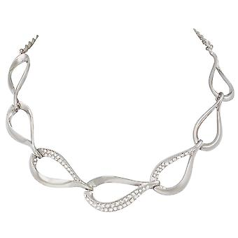 Eternal Collection Persephone Crystal Silver Tone Statement Necklace