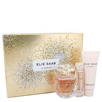 Le Parfum Elie Saab هدية مجموعة من قبل إيلي صعب 3 أوقية أو دو بارفوم رذاذ + .33 أوقية السفر EDP رذاذ + 2.5 أوقية غسول الجسم