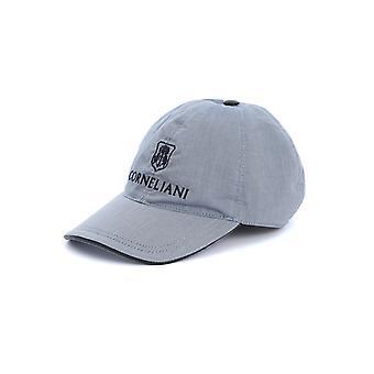 Corneliani 85o3320129220001 Men's Grey Cotton Hat