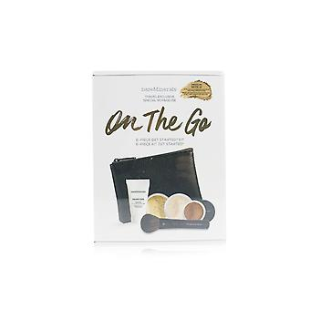 On The Go 6 Piece Get Started Kit (1x Primer, 1x Foundation 1x Mineral Veil, 1x All Over Face Color...) - # Medium Beige 12 5pcs+1clutch