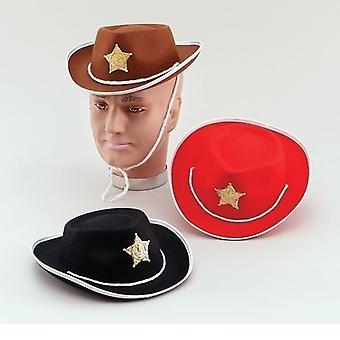 Chapéu de feltro de caubói. Childs preto