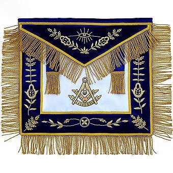 Masonic past master apron hand embroidered bullion vine work