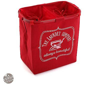Wellindal double red clothes hamper (Decoration , Boxes and baskets , Baskets)