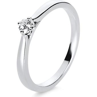 Diamond Ring Ring - 14K 585/- White Gold - 0.15 ct. - 1E234W451 - Ring width: 51