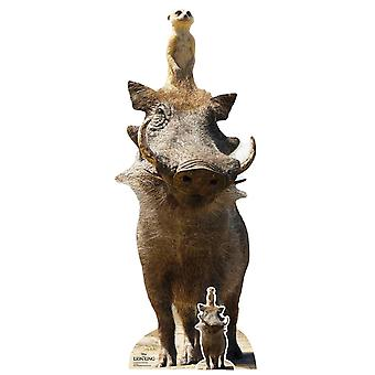 Timon en Pumbaa van The Lion King Live Action Style Official Cardboard Cutout / Standee