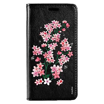 Case For Huawei P20 Lite Black Pattern Flowers De Sakura