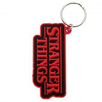 Stranger Things PVC Keyring Logo