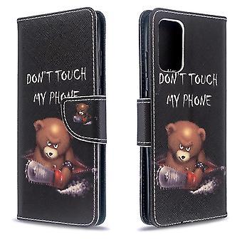 Per Samsung Galaxy S20 Ultra Case, Modello di disegno PU Copertura in pelle con Stand, Carte & Slot Cash, Cute Bear