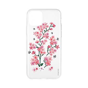 Fall für IPhone 11 Flexible Muster Sakura Blumen