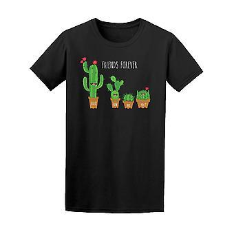 Morsomme kaktus potten venner alltid Tee menn-bilde av Shutterstock