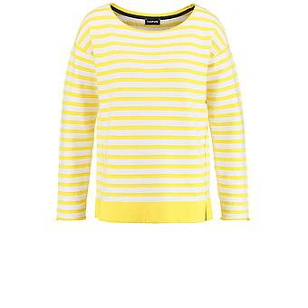 Taifun Yellow & White Striped Jumper