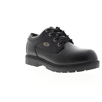 Lugz Savoy Sr  Mens Black Leather Casual Dress Lace Up Boots Shoes