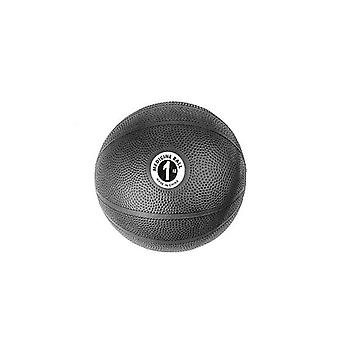 Fitness Mad PVC Home Fintess Training Gym Medicine Ball Black - 1kg