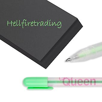 Pen Set Neon Multi Colour Gel Ink Biro Candy for Scrapbook Card Making[Green] BUY 2 GET 1 FREE
