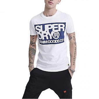 Superdry Denim Goods Co Print T-Shirt White 01C