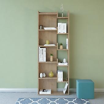 Brooke Color Natural Wood Library w melamininie Chip 60.5x22x162.5 cm
