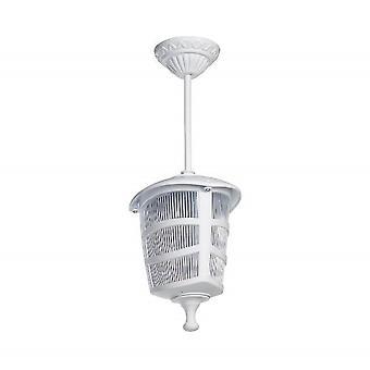 Lampe de suspension optique Couleur plastique blanc, L17xP17xA42 cm
