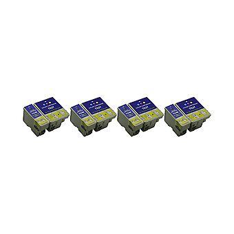 RudyTwos 4 x korvaaja Epson BeachHuts T0361 T0370 asettaa muste yksikkö musta & kolmivärinen yhteensopiva C42, C42 Plus C42 Pro, C42 S, C42SX, C42UX, C44, C44 Plus C46