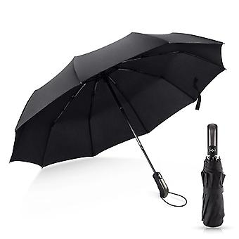 Automatic Windproof Umbrellas Rain For Men Black Coating