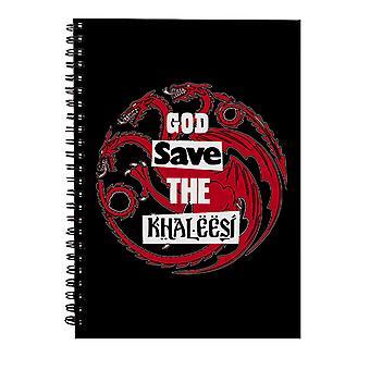 Dios salvar juego de Tronos Cuaderno espiral